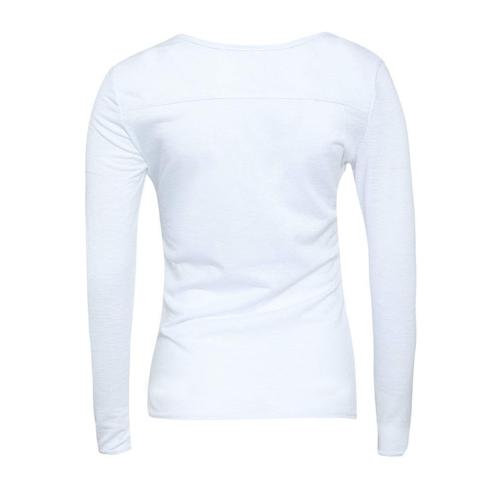 Women Long Sleeve Pullover Casual Solid Color Block Sweatshirt Blouse Tops
