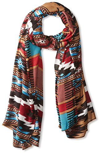 Theodora & Callum Women's Cheyenne Wearable Art Blanket Scarf, Turquoise by Theodora & Callum