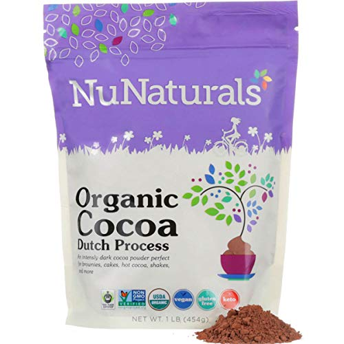 NuNaturals Premium Organic Dutch Processed Cocoa Powder for Baking