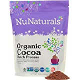 NuNaturals - Premium Organic Dutch Processed Cocoa Powder for Baking - Non GMO - Fair Trade 1lb