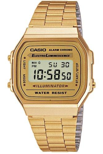 Casio Vintage Retro Gold Digital Dial Stainless Steel Unisex Watch A168WG9UR