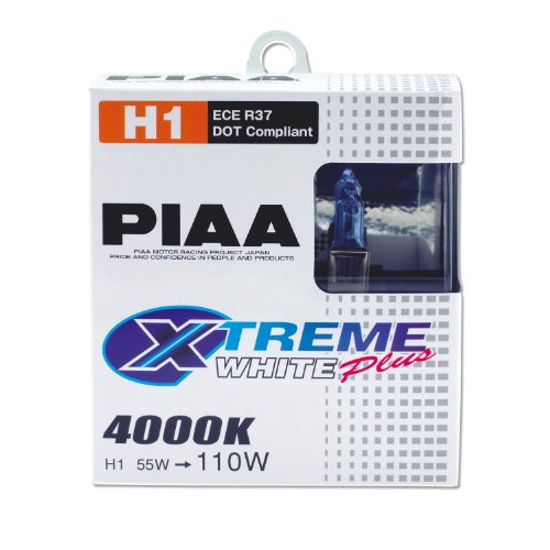 PIAA 11655 H1 Xtreme White Plus High Performance Halogen Bulb, (Pack of 2)