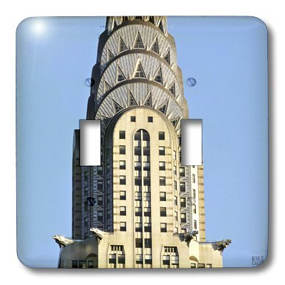 3dRose LLC  lsp_10266_2 The Chrysler Building is an Art Deco Skyscraper in New York City Located on The East Street Double Toggle Switch -