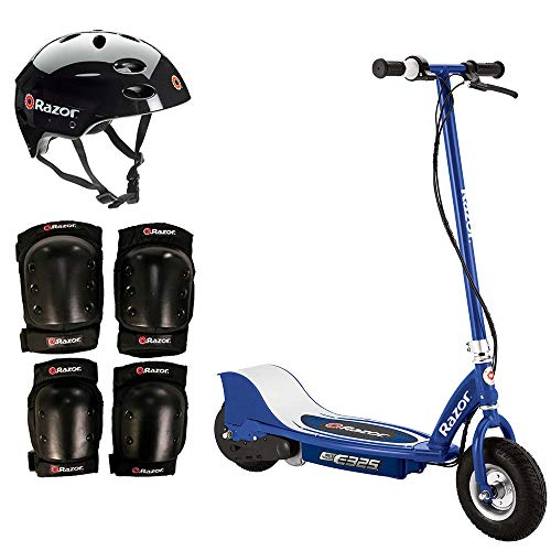 Razor E325 Electric 24-Volt Scooter + Youth Helmet + Elbow & Knee Pad Safety - Razor Electric Knee Pads
