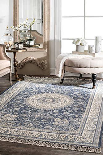 nuLOOM Tillie Handmade Tassel Wool Rug, 5 x 8 , Blue