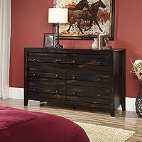 Sauder Dakota Pass 6-Drawer Dresser in Char Pine