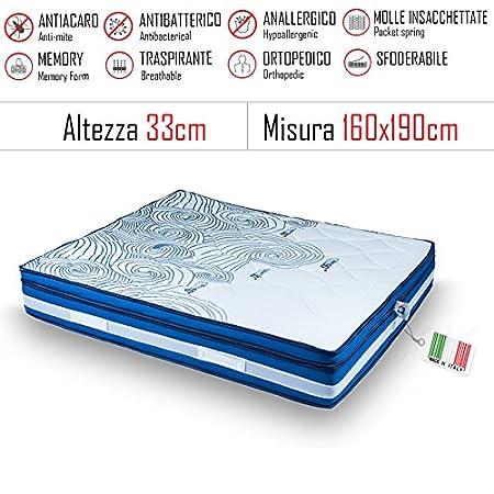 Materassi Memory Milano.Gt Materassi Materasso Matrimoniale Milano 160x190 In