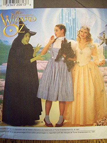 Wizard Of Oz Costumes Patterns (Simplicity #0617 Wizard of Oz Costumes Sewing Pattern Size 12 14 16)