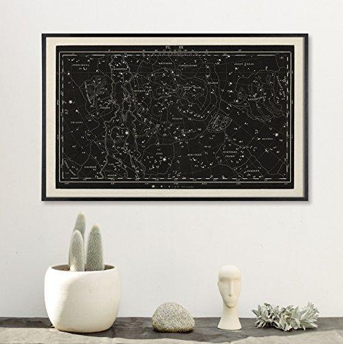 Large Horizontal Constellation Star Chart Large Star Chart