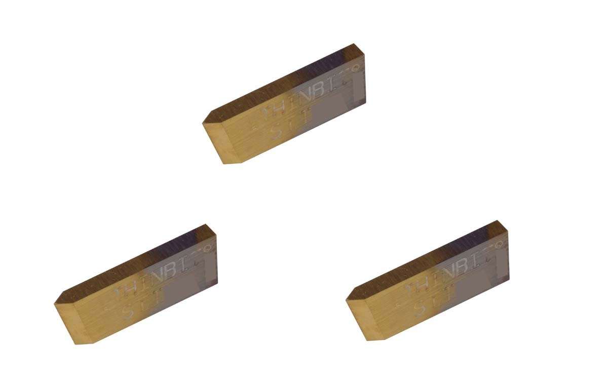 TiN Coated High Speed Steel THINBIT 3 Pack STTHSC S Series Abusive Cutting Conditions and Low RPM Cutting Threading Insert for 15 to 56 TPI in Plastics Composites