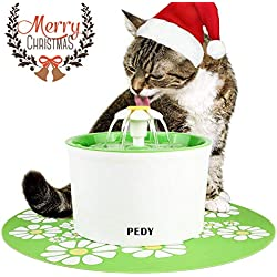 Pedy Cat Water Fountain, Automatic Cat Flower Water Fountain, Pet Water Fountain for Cats and Dogs with Filter (1.6L)