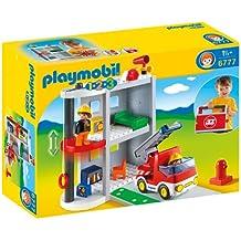 Playmobil 1.2.3 Take Along Fire Station