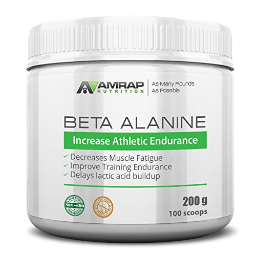 AMRAP Nutrition - Beta-Alanine & - Pre-Workout Supplement to Improve Endurance, Enhance Power, - Decrease Muscle Fatigue - Raises Carnosine Levels and Delays Lactic Acid Buildup