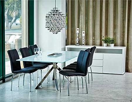 Actona Brick White High Gloss Sideboard Storage Amazon Co Uk Kitchen Home