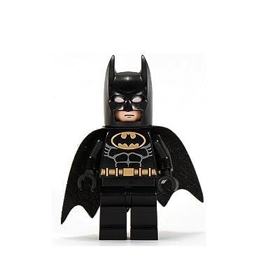 LEGO Batman Minifigure Black with Gold Belt (2006): Toys & Games