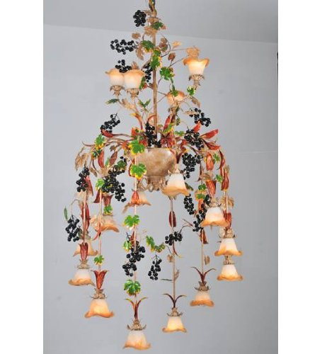 Meyda Tiffany 82807 Symphony Grape 16 Light Chandelier, 40