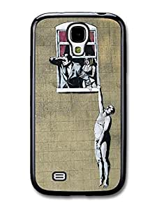 AMAF ? Accessories Banksy Hanging out of Window Case fits Samsung Galaxy S4 Street Art