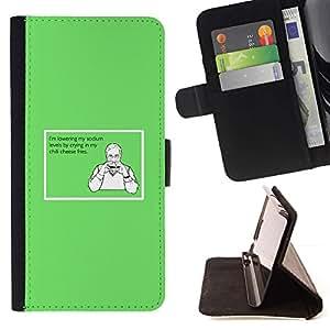 Momo Phone Case / Flip Funda de Cuero Case Cover - Químicos sándwich de hamburguesa divertida sana Cita - Samsung Galaxy S6 EDGE