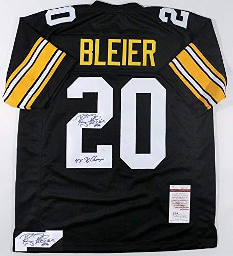 a434c9f1908 Rocky Bleier Signed Autographed '4x SB Champs' Pittsburgh Steelers Black  Football Jersey - JSA COA
