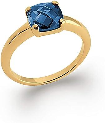 bague solitaire pierre bleue