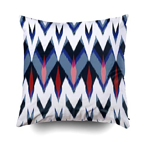 EMMTEEY Baby Girl Throw Pillows, 18x18 Pillow Covers Home Throw Pillow Covers for Sofa Zig zag Pattern Black Vector White Geometric Print Vintage Wallpaper Seamless Background s Double Sided Printing