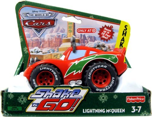 Shaken Go Mater - Disney / Pixar CARS Movie Christmas Shake n' Go Toy Figure Lightning McQueen