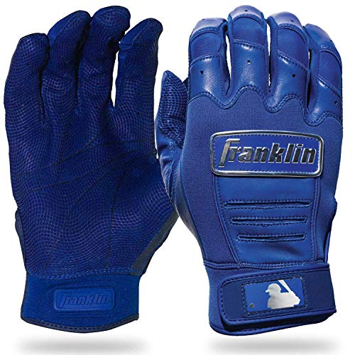 (Franklin Sports CFX Pro Full Color Chrome Batting Gloves - Royal - Adult Large )