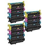 3 Set of 4 Inkfirst® Toner Cartridges CF360X CF361X CF362X CF363X (CF360A CF361X CF362X CF363X) 508X Compatible Remanufactured for HP Color LaserJet Enterprise M552dn M553dn M553n M553x M577dn M577f