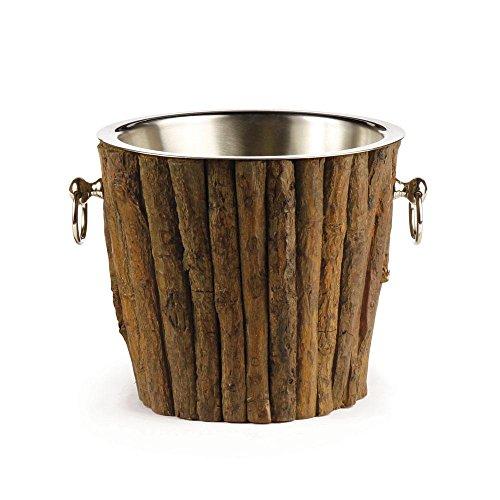 Log Cabin Wine Chiller - Brown Napa Napa Wood