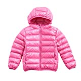 Boy Girl Packable Down Jackets, Spring Hood Coat,...