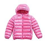 #2: Boy Girl Packable Down Jackets, Spring Hood Coat, Lightweight/Water-Resistant 6-8Y