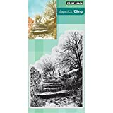 Penny Black Terraced Lane Cling Unmounted Rubber Stamp (40-448)