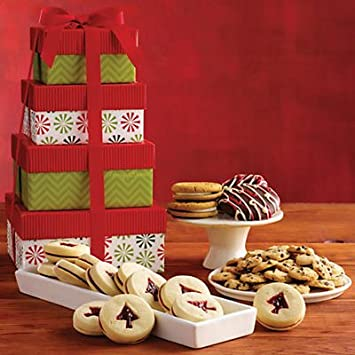 Amazon Com Tower Of Holiday Cookies Gift Baskets Fruit Ba