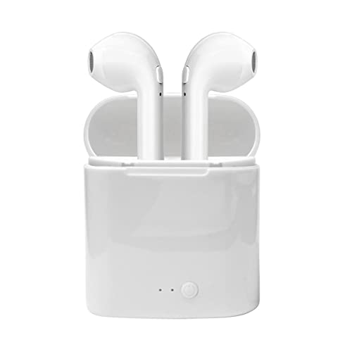 Bluetooth Earbuds Bluetooth Headphones Wireless Earbuds Sports Headphones In-Ear Bluetooth Headset with Mic and Charging Box for Running Travelling, compatible with Apple iPhone Samsung Huawei (White)