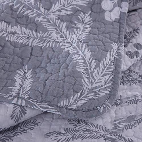 MYYINGBIN Couvre-lit Réversible 230 × 250 Cm Couvre-lit Matelassé avec 2 Taies d'oreiller, 230 * 250cm