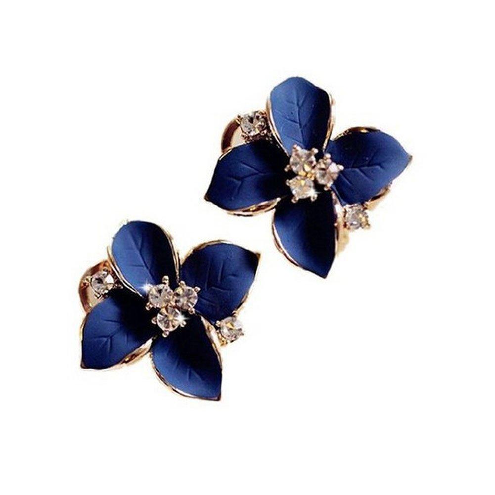 Skyeye élégant Boucles d\'oreilles en forme de fleur cristal diamant Cadeau de fête Boucles d\'oreille à tige pour femme Filles