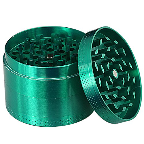 DCOU-Zinc-Alloy-Tobacco-Grinder-Herb-Grinder-Weed-Grinder-with-Magnetic-Lid-Sifter-and-Pollen-Scraper-4-Piece-214