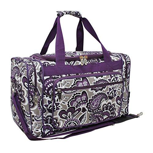 Purple Paisley NGIL Canvas Carry on 20