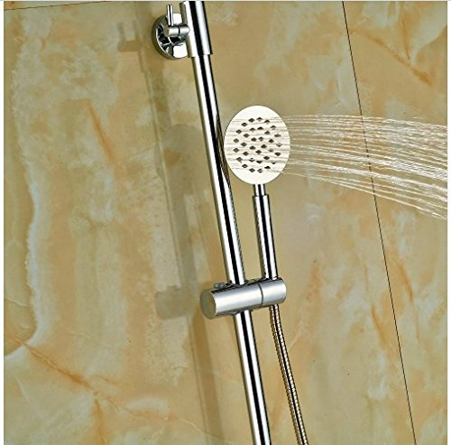 Gowe Thermostatic 8-in Round Shower With Hand Shower Bath Rainfall Shower Set Wall Mounted 3