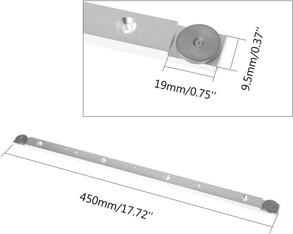 ZOOMY 450mm Aluminiumlegierung Schiene Gehrungsstange Slider Tischkreiss/äge Spur Rod Holzbearbeitungswerkzeug