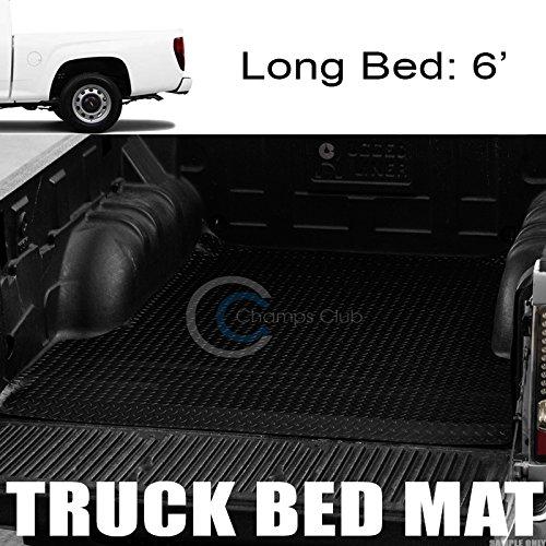 R/&L Racing Black Rubber Diamond Truck Bed Trunk Floor Mat Carpet 04-12 for Colorado//Canyon 6//72