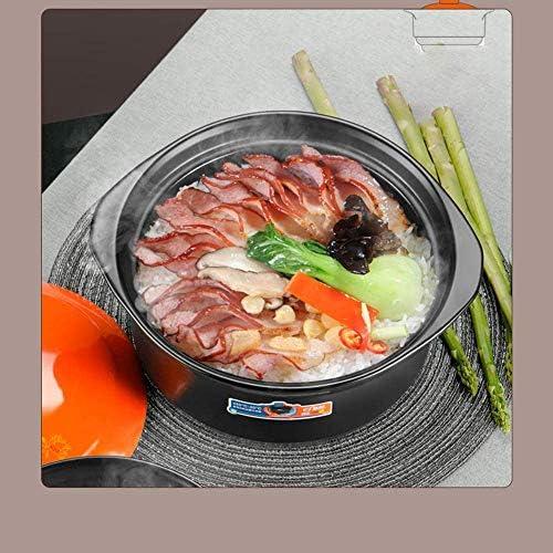 UWY Marmite en céramique Pots en céramique pour la Cuisson - Marmite à Soupe de Grande capacité pour cuisinière à gaz, Petite marmite à ragoût, Casserole Pot à Soupe Cylindre-2.2L