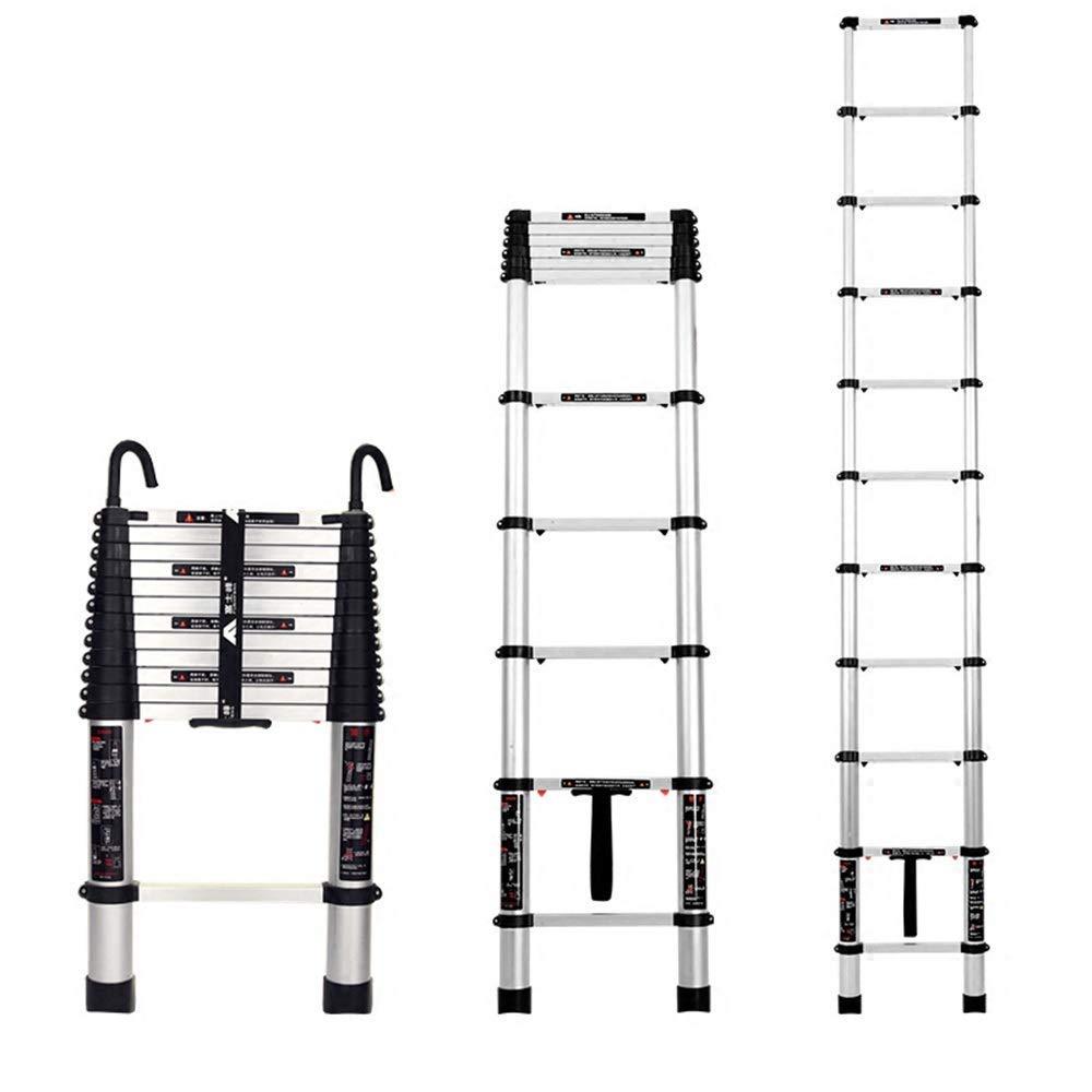 ACZZ Escalera de extensión Escalera plegable de aluminio Escalera de pabellón de ingeniería, Escalera de inicio Escalera de subida, Telescópica de un clic, con gancho),Enganchado 3.2m (10.5 pies): Amazon.es: Bricolaje y herramientas
