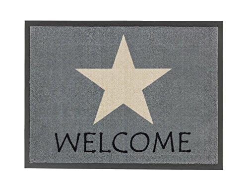 Schmutzfangmatte / Fußmatte / Fussmatte / Fußabstreifer / Fußabtreter / Schmutzmatte Modell grau - Stern - Stars - Welcome - ca 50 x 70 cm