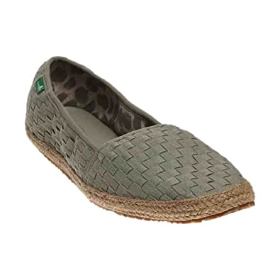Sanuk Womens Basket Case Loafer Olive Khaki Size 5
