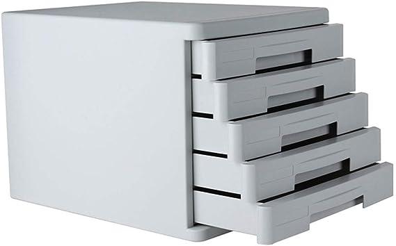 HongLianRiven Cajonera para archivadores Organización del gabinete de Almacenamiento de Archivos de plástico de 5 cajones: Amazon.es: Electrónica