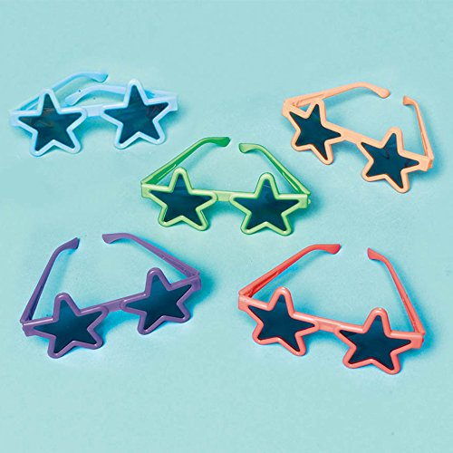 Assorted Summer Star Sunglasses Costume Party Accessory Favour and Prize Giveaway, Pack of - With Sunglasses Rock The