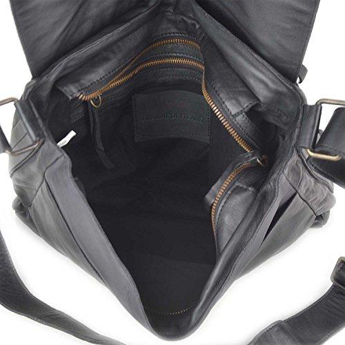 Borsa Messenger uomo in pelle Trussardi Jeans - 71B338 colore Nero