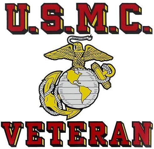 Marine Veteran License Plate Bundle with USMC Veteran Decal for Marine Veterans