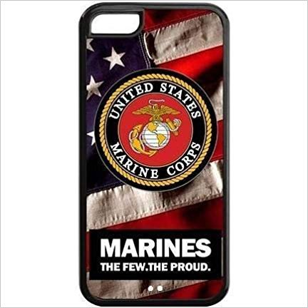 RHINO ARMOUR SLIM - Ultra Premium Case -USMC Marine Army Proud - New design for NEW Apple iPhone 8 PLUS - ( 5.5 inch), Made & Printed in the USA
